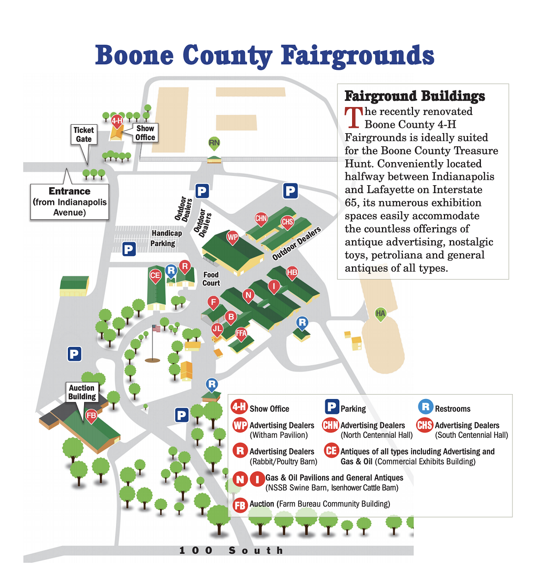 New Boone County 4-H Fairgrounds Map